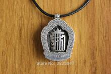 SL011 Ethnic Tibetan Sterling Silver 925 Mantra Kalachakra Men Prayer Box Gau Amulet Pendant Wholesale Handmade Nepalese Jewelry(China)