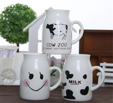 250ML Cute Ceramics Smile/Milk/Cow Zoo Funny Breakfast Milk Mug Hot Chocolate Cups And Water Mugs