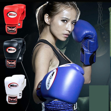 8OZ 10OZ 12OZ 14OZ Twins Kick Boxing Gloves Men Women Kids PU Leather Karate MMA Gloves Boxing Gloves Muay Thai S