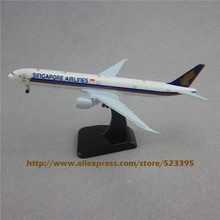 19cm Airplane Model Air Singapore Airlines B777 300ER Boeing 777 Airways Plane Model W Stand Wheels Landing Gear Aircraft(China)