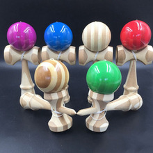 Skill Toy Ball Bamboo Jumbo Kendama Juggle Game Ball Jade Sword Ball for Adult Japanese Traditional Toy 2 styles Random Style