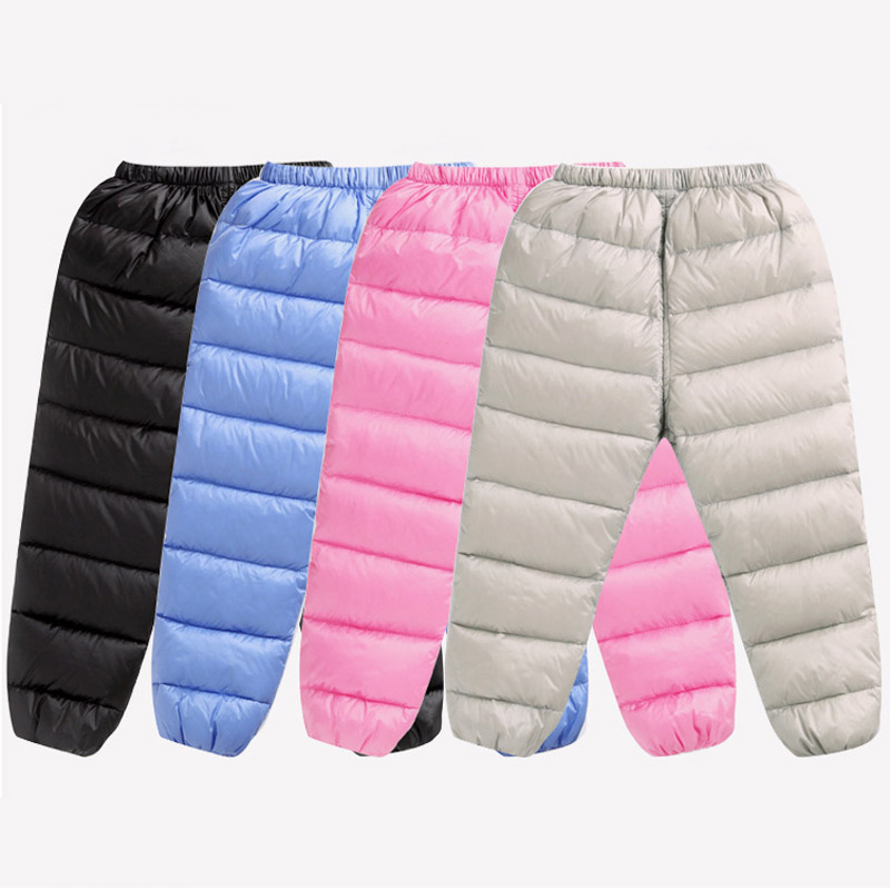 Bentain 1-6 Years Boys Girls Winter Down Pants Unisex Baby Kids Warm Thick Long Trousers Bottoms 2017 New Children's Clothing(China)