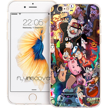 Coque Gravity Falls Collage Clear Soft TPU Silicone Phone Cover for iPhone X 7 8 Plus 5S 5 SE 6 6S Plus 4S iPod Touch 6 5 Cases(China)