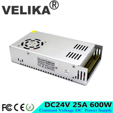 Small Volume New Model 600W 24V 25A Switching Power Supply Silver LED Strip AC 220V 110V Input to DC 24V UPS For CNC CCTV Motor(China)