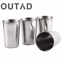 4 PC 30ML 70ML 180ML Stainless Steel Camping Cup Mug Outdoor Camping Hiking Folding Portable Tea Coffee Beer Cup With Black Bag(China)