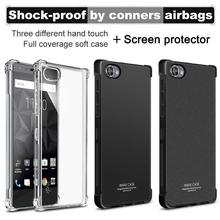 IMAK Surrounded Protection Shockproof Editon Case for Blackberry Motion Clear Soft TPU Case Cover for Blackberry Motion & film(China)