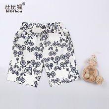 hot Fashion Summer Children Surf Beach bicycle Print Clothing Boys Shorts Adjustable Breathable Pants Baby Kids Child Pant Sale(China)