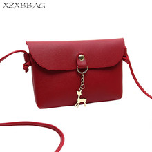 XZXBBAG Women Cute Deer Messenger Bags Girl Simplicity Casual Cell Phone Pocket Students Crossbody Case Girl Shoulder Bags