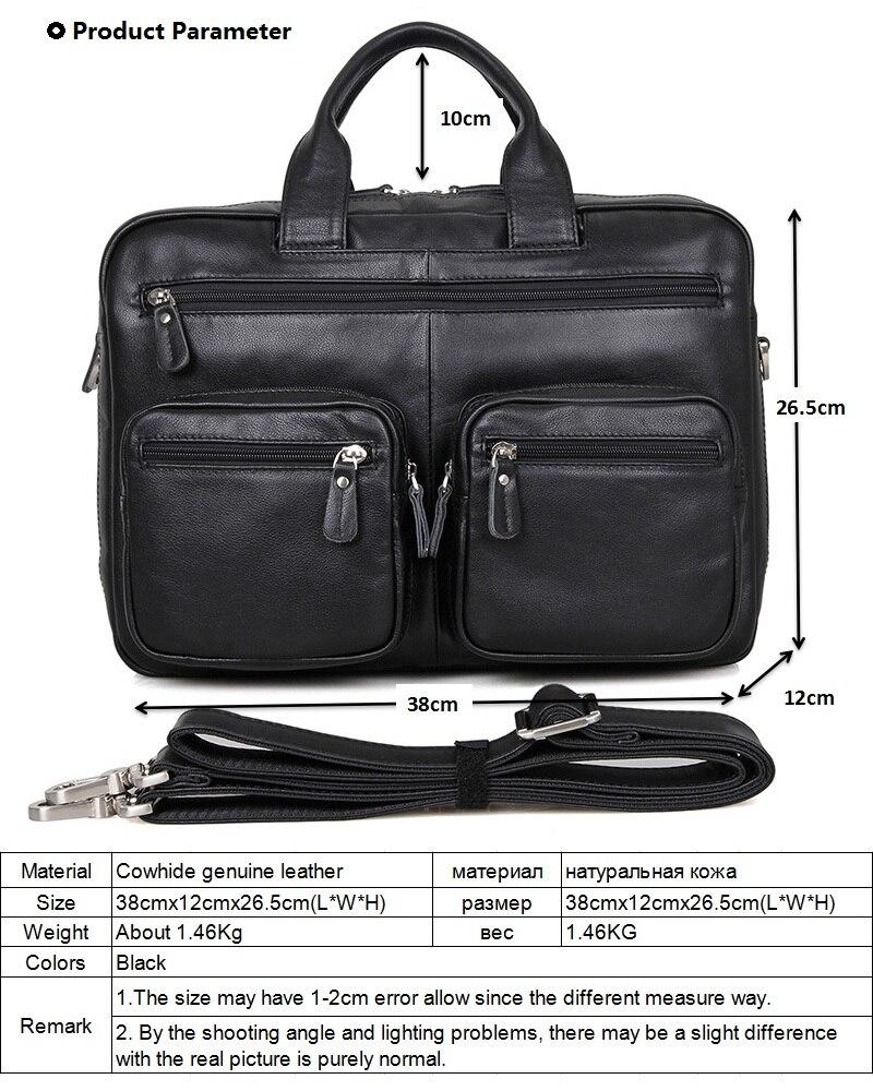 Genuine Leather Men Bags Multifunctional Men's Briefcase Crossbody Shoulder Handbag Men Messenger Large Travel Bag Packs LI-1645