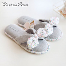 New Spring Summer Flip Flops Women Slippers Cotton Indoor House Home Bedroom Women Shoes Pasoataques Brand(China)