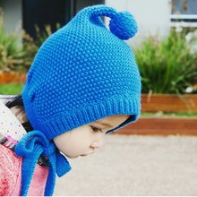Winter Warm Childrens Hat Pure Cotton Baby Hat Cute Bulb Hat(China)