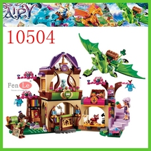 Elves Secret Place parenting activity education model building blocks of the new year girls and children's toys