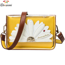 DORANMI Floral Transparent Women's Purse Bag 2017 Summer Style Flap Messenger Bags Plastic Girl's Crossbody Bag DJB109(China)