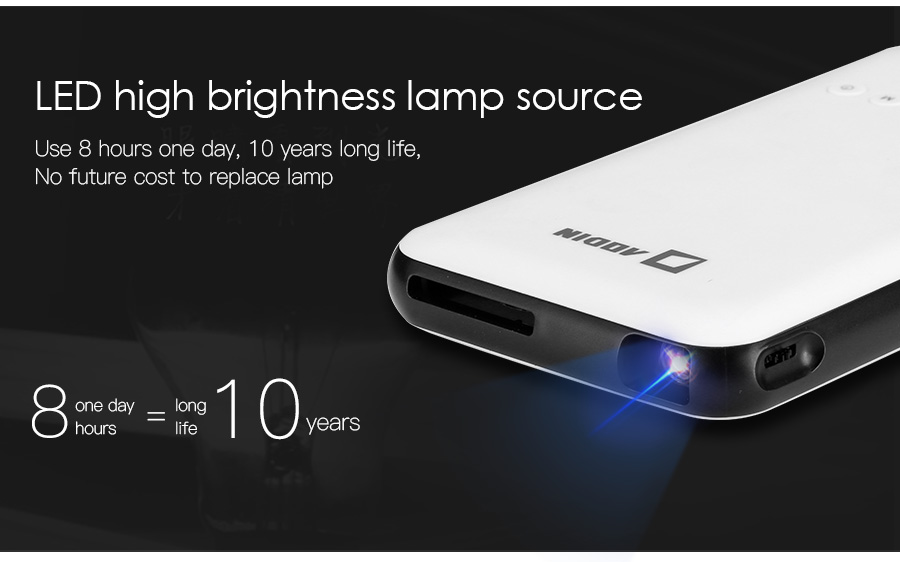 AODIAN AODIN 3D HD Mini projector DLP support 1080P video 8G pico pocket projector for home theater HDMI smart led portable projectors-18