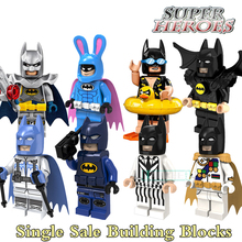Educational Blocks Batman Fairy Tartan Pajamas Super Heroes Figures Star Wars Set Building Bricks Kids DIY Toys Hobbies PG8047