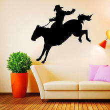 ZUCZUG Horse Wall Stickers Black PVC Wild West Mustang 3D Removable Wall Decals Home Decor For Bedroom Living Room(China)