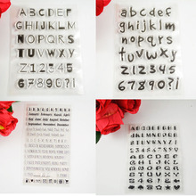 Alphabet Arabic figures TPR clear stamp Transparent Stamp For DIY Scrapbooking/Card Making/ Decoration Supplies
