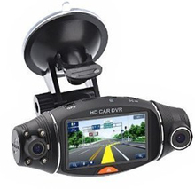 "R310 FHD Dual Lens 2.7"" LCD Display HD 720P Portable Car Camera DVR Video Recorder With G-Sensor Car DVR"