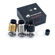2016 Hotest GOON 528 RDTA 24mm Adjustable Airflow Vaporizer Stainless Steel Tank Electronic Cigarette Atomizer Smoking SS/Black