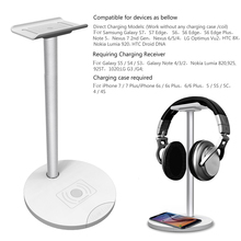 5V 500-1000mA QI wireless charger charging stand with headsets holder bracket for samsung galaxy S L3FE
