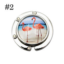 Cute Portable Hooks Foldable Folding Table Purse Bag Hook Hanger Holder Mirror Handbag(China)