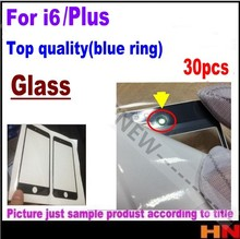 30pcs Top quality Front Outer Screen Glass Lens Replacement for iPhone 6 6p plus 4.7'' 5.5 White and black(China)