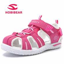 Buy HOBIBEAR Summer Beach Dress Children Sandals Girls Flat Boys Close Toe Breathable Cut-Outs Sandals Kids Shoes School Shoes 2018 for $16.85 in AliExpress store
