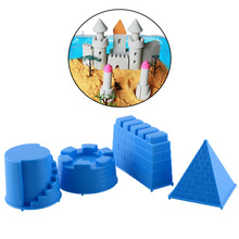 New Fantasty Portable 4pcs Castle Sand Toys Pyramid Sandcastle Beach Sand Water Toy Make Children Happy(China)
