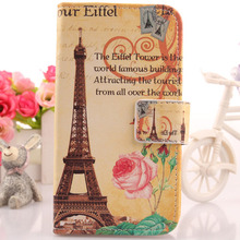 Exyuan Cute Flip Design Cell Phone PU Leather Wallet Cards Cover Protector Pouch Case For Nous NS 5006 5''(China)