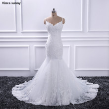 Buy Vinca sunny White Mermaid Wedding Dresses Sweetheart Bride Dresses Beading Backless Vestidos De Novia Luxury Sexy Bride Gown for $158.76 in AliExpress store
