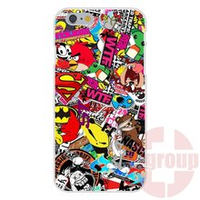 Jdm Stickers Bomb Honda Soft TPU Silicon Skin Painting For Apple iPhone 4 4S 5 5C SE 6 6S 7 7S Plus 4.7 5.5
