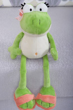 The nici Frog Prince Cute Frog Plush Toy Children Lovers Birthday Christmas Present Free Shipping 1pcs Animal Doll
