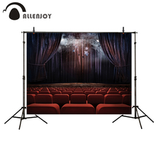 Allenjoy photography background Auditorium stage curtain smoke Halloween theme backdrop photo studio camera fotografica