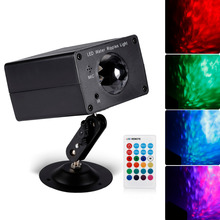 Hot 2017 Model LED Water Ripple Effect Party Light Projector 16 Colors 3 Speeds with Remote Control Black Hot Selling StarLight