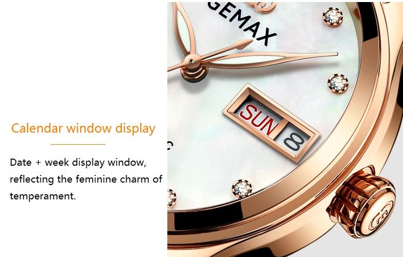 GEMAX Women Watches Waterproof Automatic Mechanical Watch Ladies Fashion Top Brand Diamond Calendar Ceramic Sapphire MIYOTA 2017 (14)