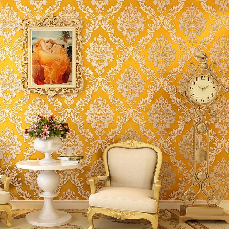 beibehang flooring Glitter Diamond Damask Wallpaper 3D Embossed Living Room Sofa Nonwoven Home Decor Luxury Wall paper Rolls<br>