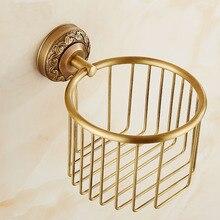 antique brass wall mounted paper holders bathroom shelf rack copper toilet tissue basket cosmetic storage box shelf brackets
