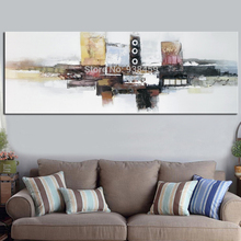 Huge Wall Decoration Pictures Hand Painted Modern Abstract Canvas Art Works Acrylic Oil Painting On Canvas 40X120CM Unframed