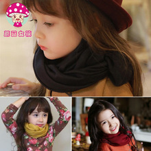 Kids Scarves Lencos de Pescoco Infantil Fashion Solid Cotton Baby Silk Scarf Infant Accessories Shawl Kids Girls(China)