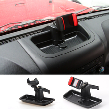 Car Cell Phone GPS Bracket Dash Mount Holder Storage Organizer Box Fit For Wrangler 2012-2016