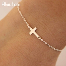 ALIUTOM 2018 charm cross cross chain bracelet fashion jewelry pulseras mujer women's bracelet(China)