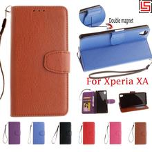 Buy Luxury High PU Leather Flip Wallet Walet Wallt Phone Cell Case caso Cover Cove Sony Xperia Xpera XA F3115 Brown for $4.69 in AliExpress store