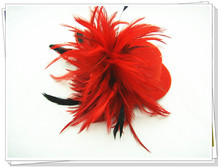 Fashion new mixed color feather fascinator hair accessories/bridal headwear/party hats/cocktail headpieces msj05 6pcs/lot