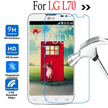 Premium Tempered Glass For LG L70 Dual SIM D325 Screen Protector Front Cover Protective Film Case Guard Film With Cleaning Tool