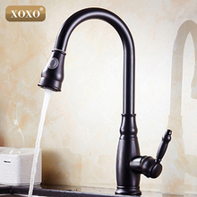 XOXO Luxury ORB Pull Down Kitchen Faucet Wholesale New Arrival Solid Brass Swivel Pull Out 83015H(China)