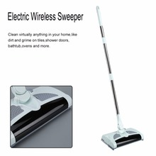 Electric Wireless Sweeper Manual Hand Push Sweeping Broom 360 Degree Rotation Flexible Cleaner Rod Type Home Cleaning Tool(China)