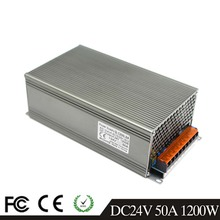 DC24v 50A 1200W Universal Regulated Switching Power Supply 110V 220V AC-DC Driver for CCTV Radio Computer Project Led Light CNC(China)