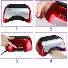 Brand New Professional 48W CCFL LED Lamp Nail Dryers For Nail Gel Polish Curing EU Plug Fashion Red Nail Tools Electric 12V