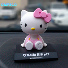Free Shipping Cute Pink Hello Kitty Ornament Car Decorative Furnishing Articles Automotive Cartoon Doll Auto Accessories