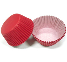 Free Shipping 100pcs Red Plain Solid Color Paper Cake Cup Liner Baking Cup Muffin tray Cupcake Cases for wedding birthday
